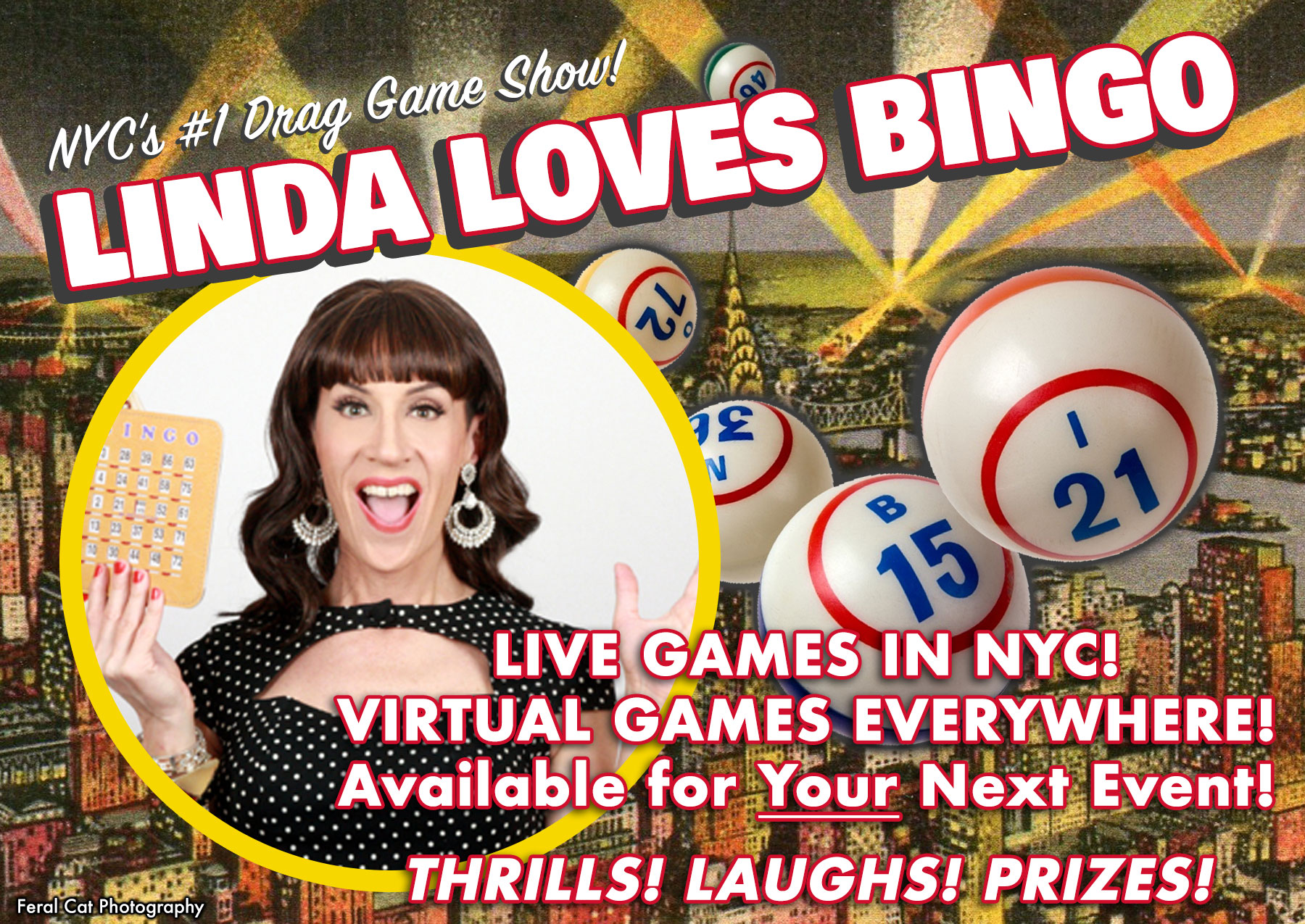 Join Linda Simpson for bingo every week